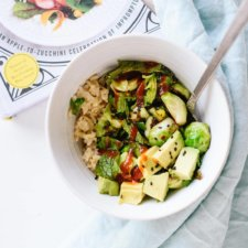 Jeanine's Coconut Rice with Brussels Sprouts